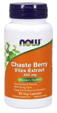 Chaste Berry Vitex Extract 300 mg 90 Veg Capsules NOW Foods