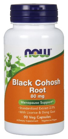 Black Cohosh Root 80 mg 90 Veg Capsules NOW Foods