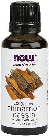 Óleo essencial de Cinnamon Cassia canela cassia 1oz 30ml NOW Foods