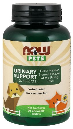 Urinary Support for Dogs & Cats para cães e gatos 90 chewables tabs NOW Pets