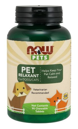Pet Relaxant for dogs e cats para cães e gatos 90 Chewables tabs NOW Pets