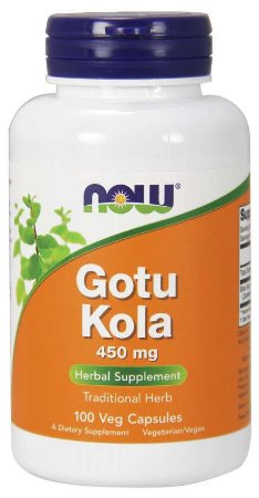 Gotu Kola 450 mg 100 Veg Capsules NOW Foods