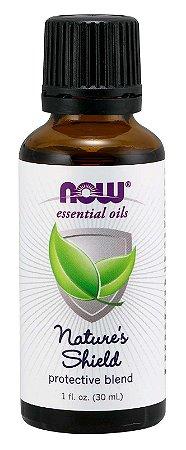 Óleo essencial blend Nature s Shield 1oz 30ml NOW Foods