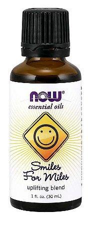 Óleo essencial blend Smiles for Miles sorria por milhas 1oz 30ml NOW Foods