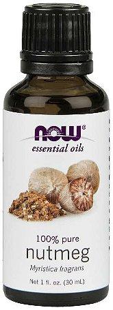 Óleo essencial de Nutmeg noz moscada 1oz 30ml NOW Foods