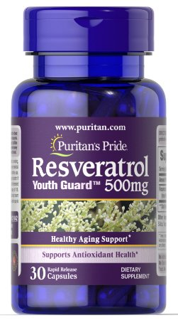 Resveratrol 500 mg 30 capsules PURITAN S Pride
