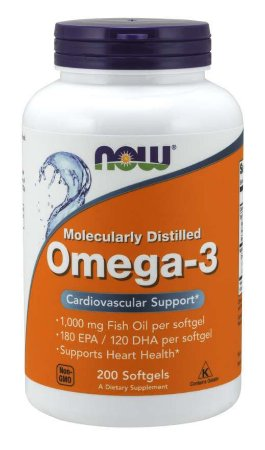 Omega 3 1000mg 200 Softgels NOW Foods