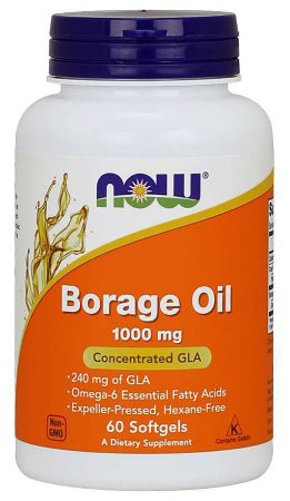Borage Oil 1000 mg 60 Softgels NOW Foods