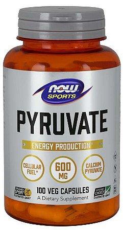 Pyruvate Veg 600 mg 100 Capsules NOW Sports