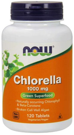 Chlorella 1000 mg 120 Tablets NOW Foods