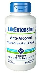 Anti Alcohol HepatoProtection Complex 60 veg Capsules LIFE Extension