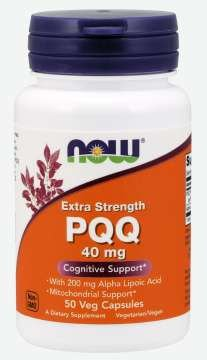 PQQ Extra Strength 40 mg 50 Veg Capsules NOW Foods