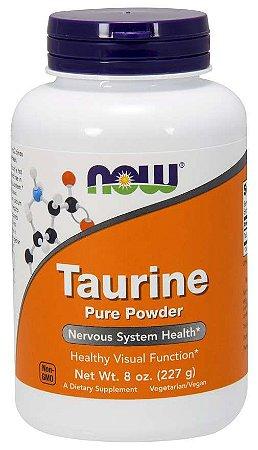 Taurine taurina em pó Pure Powder 8 oz 227g NOW Foods