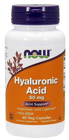 Acido hialuronico com MSM Hyaluronic Acid with MSM 60 Veg Capsules NOW Foods