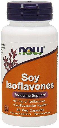 Soy Isoflavones isoflavonas de soja 150 mg 60 Veg Capsules NOW Foods