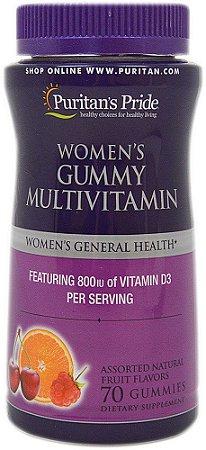 Multivitaminico para mulheres Women's Gummy Multivitamin 70 balas de goma  PURITANS Pride