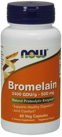 Bromelain 500 mg 60 Veg Capsules NOW Foods
