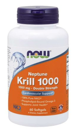 Neptune Krill Double Strength 1000 mg 60 Softgels NOW Foods