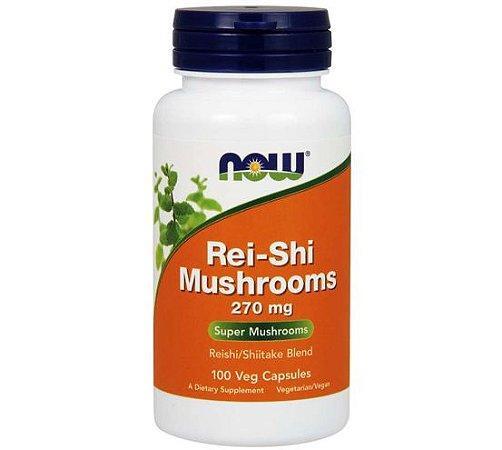 Rei Shi Mushrooms 270 mg 100 Veg Capsules NOW Foods