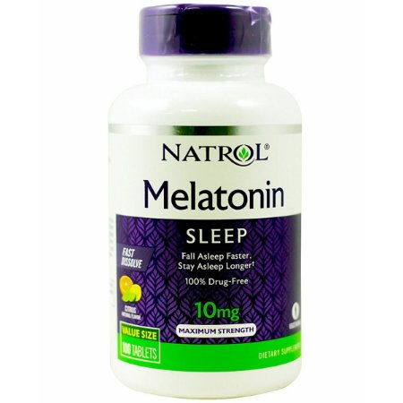 Melatonina 10mg FAST DISSOLVE sublingual 100 tablets Sabor citrus NATROL