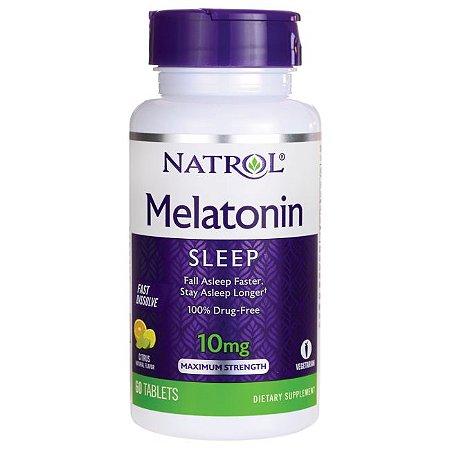 Melatonina 10mg FAST DISSOLVE sublingual 60 tablets Sabor citrus NATROL