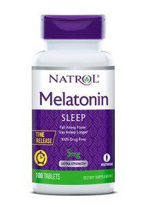 Melatonina 5 mg TIME RELEASE 100 tablets NATROL