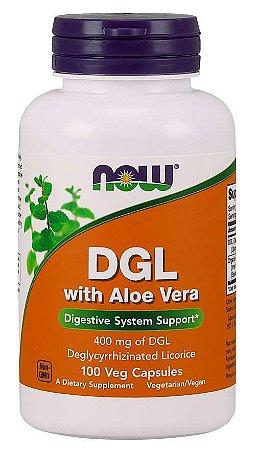 DGL with Aloe Vera 100 Veg Capsules NOW Foods