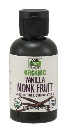 Monk Fruit Vanilla Liquid Organic - Baunilha 1.8 oz 53ml NOW Foods