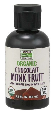 Monk Fruit Chocolate Liquid Organic - Chocolate 1.8oz 53ml NOW Foods