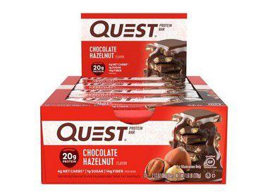 Quest Bar chocolate hazelnut Caixa com 12 Unidades FRETE GRATIS VENCIMENTO 12/2019