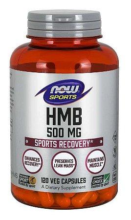 HMB 500mg 120 veg capsules NOW Foods