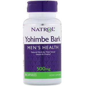 Yohimbe Bark Casca de ioimbina saude dos homens 500mg 90 capsules NATROL