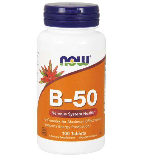 Vitamina B 50 100 tablets NOW Foods
