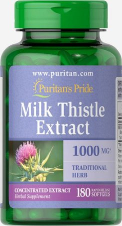 Milk thistle extract 1000mg 180softgels PURITANS Pride