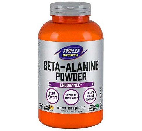 Beta alanina pura em pó 500g NOW Foods