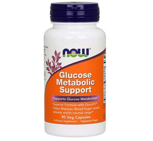 Glucose Metabolic Support 90 Veg Capsules NOW Foods