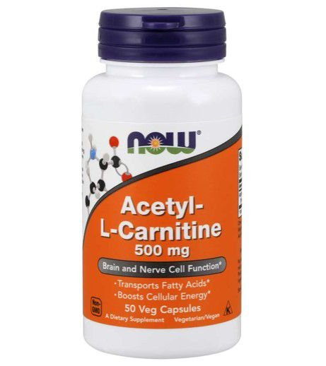 Acetyl L Carnitine 500mg 50 veg capsules NOW Foods