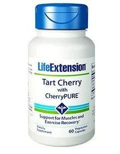 Tart Cherry with CherryPURE 60 capsulas LIFE Extension vencimento 01/2020
