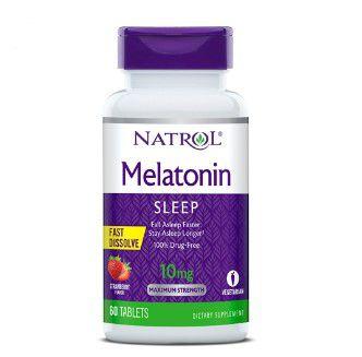 Melatonina 10mg FAST DISSOLVE sublingual 60 tablets Sabor morango NATROL