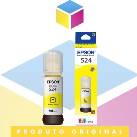Tinta Epson 524 T 524 Amarelo Yellow | T 524420 AL T 524420 | L 6580 L 15150  L 15160 | Original 70ml