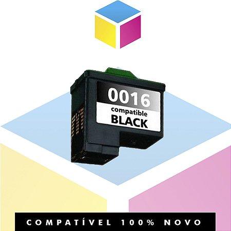 Cartucho de Tinta Compatível Lexmark 16 10N0016 Preto | Z645 Z647 X1270 X1185 Z513 X1195 | 15ml
