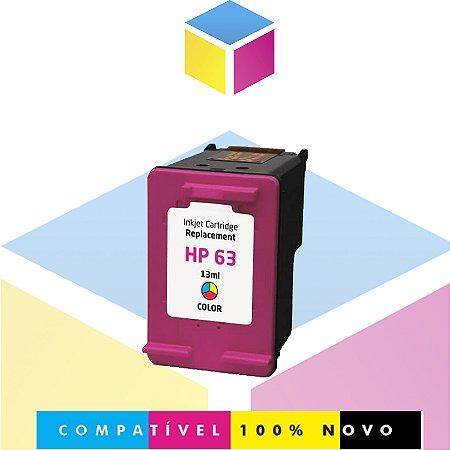 Cartucho de Tinta Compatível com HP 63 Colorido | F6U62AN J6U69A K4T93A F5S43A COLOR | 13ml