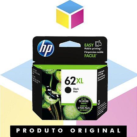 Cartucho de Tinta HP 62XL 62 Preto Original | C2P05AL | 12ml