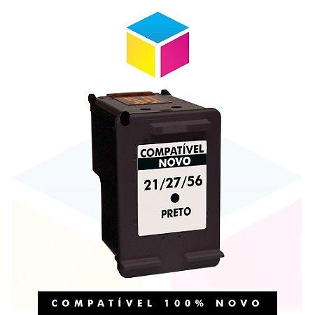 Cartucho de Tinta Compatível com HP 27 Preto | C 8727 AB C 8727 AL C 8727 A C 8727 CB | 19ml
