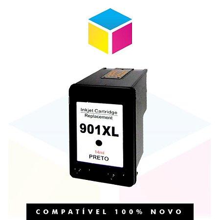 Cartucho de Tinta Compatível com HP 901 XL 901 CC 654 AL CC 654 AB CC 653 AB Preto | Officejet J 4660 14ml
