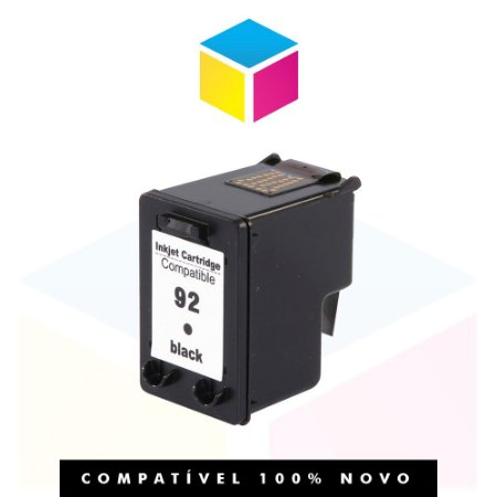Cartucho de Tinta Compatível com HP 92 C 9362 WB Preto | D 4100 6210 2570 PSC-1507 14ml