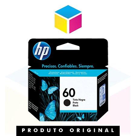 Cartucho de Tinta HP 60 CC 640 WB Preto | D 1660 F 4280 F 4480 | Original 4,5ml