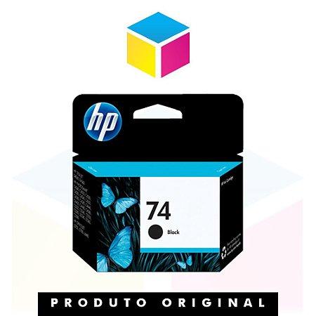 Cartucho de Tinta HP 74 | CB335WB | Preto | Original HP | 5,5 ml