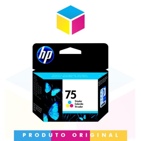 Cartucho de Tinta HP 75 CB337WB Colorido | D 4360 Officejet J 5780 Photosmart C 4280 | Original 5,5ml
