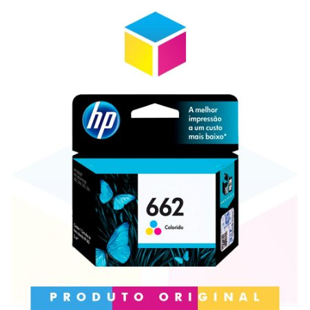 Cartucho de Tinta HP 662 CZ 104 AB CZ 104 AL Colorido | Original 2ml